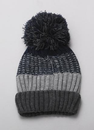 Зимняя вязанная шапка для мальчика
