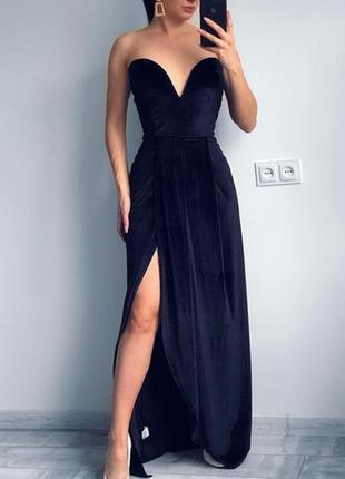 Бархатное красивое платье на нг