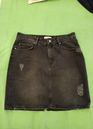 Спідниця чорний джинс
