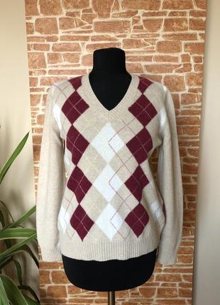 Пуловер marco pecci шерсть s-m