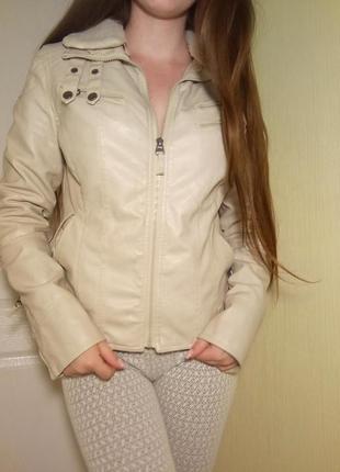 Куртка косуха дубленка terranova кожанка