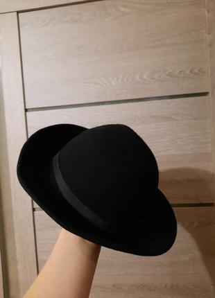 Чёрная шляпа 55см