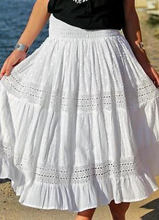 Летняя юбка пояс на резинке