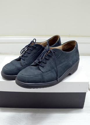 """Ботинки туфли оксфорды """"solidus bequem"""" нубук кожа"""