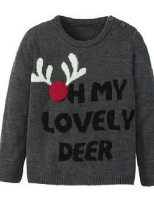 Новогодний свитерок. свитшот германия lidl lupilu.