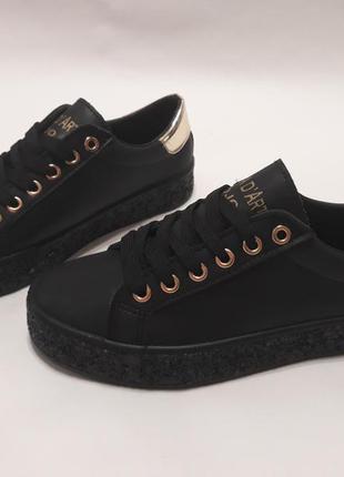 Стильные женские кеды (кроссовки) с подошвой с блестками