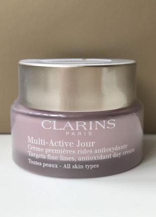 Дневной крем clarins multi-active jour all skin type