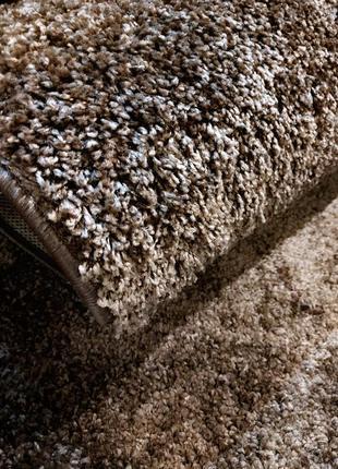 Пушистый ковёр шоколад (комплект)