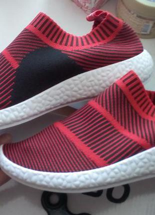 Летние дышащие кроссовки слипоны текстильные