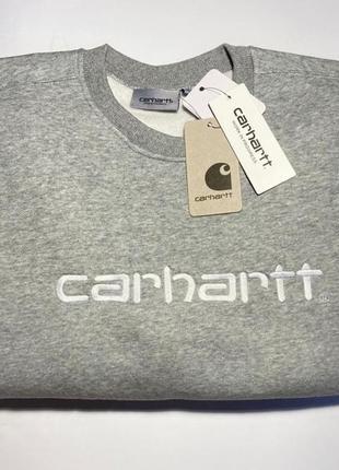 Світшот худі carhartt wip grey розмір м оригінал
