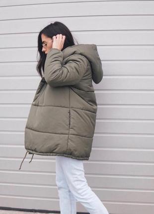 Теплая женская куртка пуховик зефирка