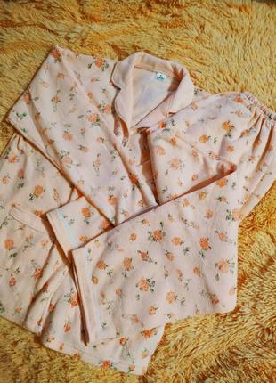 Пижама тёплая махровая на байке