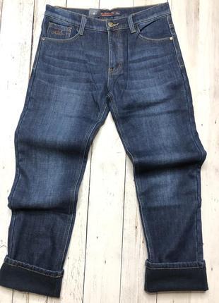 Мужские джинсы утеплённые-флис-зима