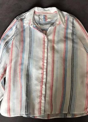 M&s pure liner рубаха фирменная льняная рубашка качество (cos oska sarah pacini max mara)