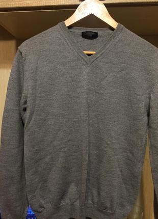 Джемпер, пуловер 100% шерсть, calvin klein