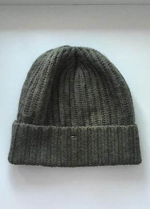 Tommy hilfiger шерстяная мягкая шапка