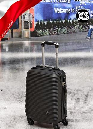 Черный дорожный чемодан поликарбонат abs fly ручная кладь poland