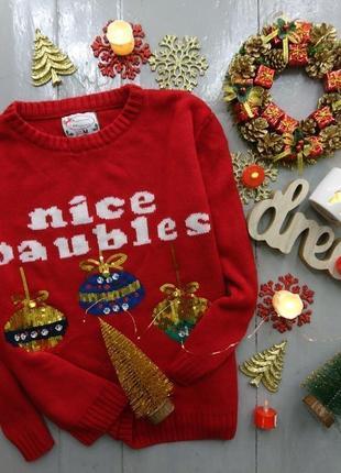 Новогодний нарядный свитер merry christmas new year №50