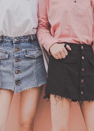 Джинсовые юбки-шорты ❣️