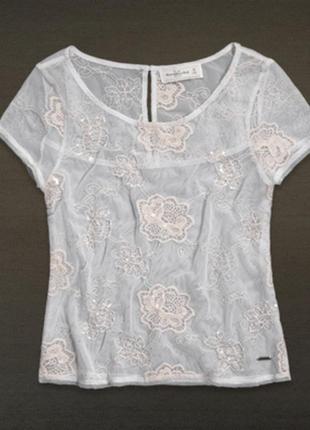 Abercrombie & fitc футболка кружевная