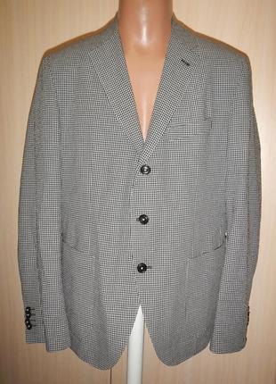 Легкий пиджак жакет в мелкую клетку pierre cardin p.52 хлопок