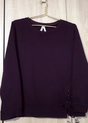 Красивый бордовый свитшот кофта кофточка размер 48-50