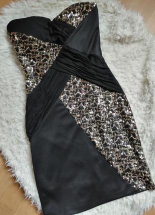 Коктейльное платье с пайетками, р 10