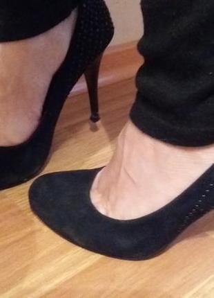 Туфли лодочки замш классика