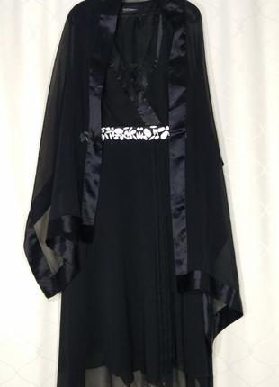 Шикарное вечернее 👗 платье и шёлковый палантин в подарок