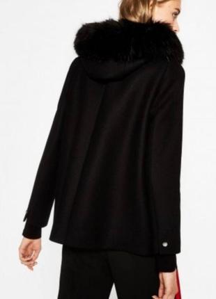 Пальто zara черное oversize осеннее/зимнее 100% вискоза m/l , идеальное состояние2 фото
