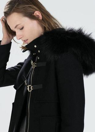 Пальто zara черное oversize осеннее/зимнее 100% вискоза m/l , идеальное состояние4 фото