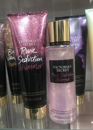 Pure seduction shimmer victoria's secret парфумований спрей лосьон виктория сикрет