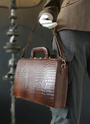 Hand made. сумка-саквояж из натуральной кожи.
