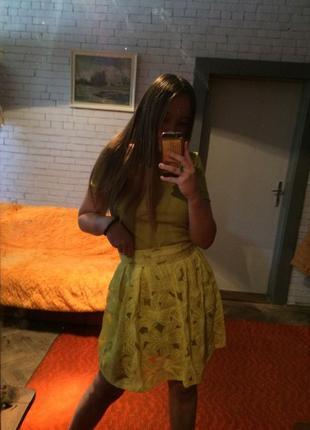 Платье горчичного цвета {2в1}