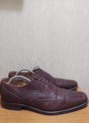 Элитные кожаные туфли loake ручная работа размер 41-41.5 оригинал
