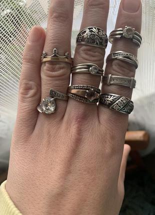Кольца серебро 925 проба б/у