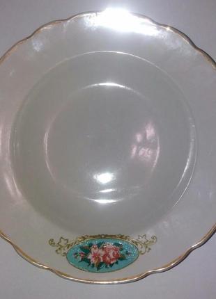 Большая тарелка  коростень винтаж