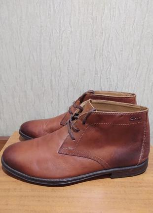 Ботинки clarks 1825 натуральная кожа размер 42-41.5 оригинал