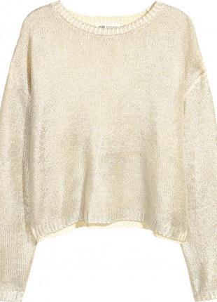 Кофта свитер hm серебро