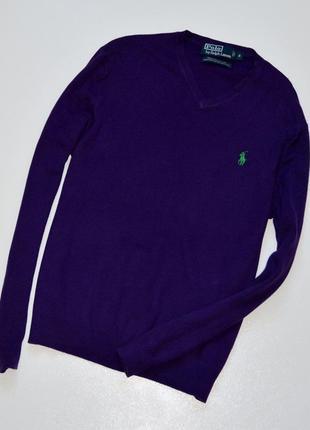Polo ralph lauren 100% pima cotton сильный фиолетовый джемпер