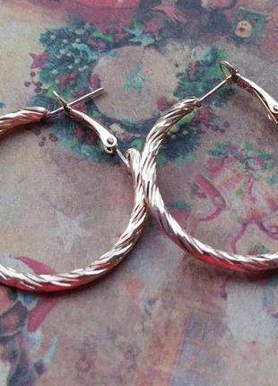 Сережки серьги круглые