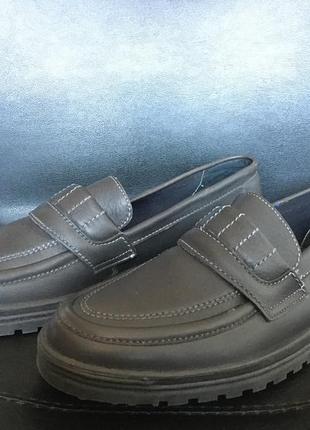 Туфли лоферы, германия, натуральная кожа 43р 28см