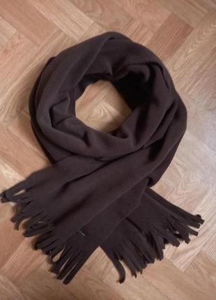 Мужской фирменный  флисовый шарф.