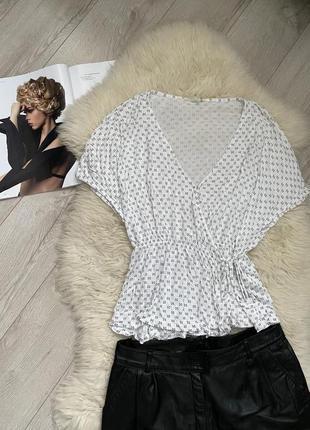 H&m  блуза 😍в абстрактный горошек