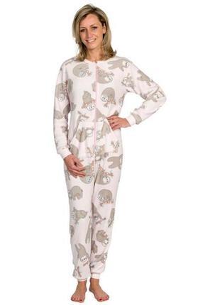 Кигуруми женская плюшевая пижама комбинезон лаунж1 фото