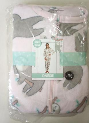 Кигуруми женская плюшевая пижама комбинезон лаунж2 фото
