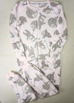 Кигуруми женская плюшевая пижама комбинезон лаунж3 фото