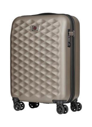Дорожный чемодан на колесах цвета бронза