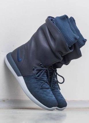Nike roshe two flyknit hi зимние кроссовки/сапоги/ботинки/полусапожки кожа us 8,5 и 9,5