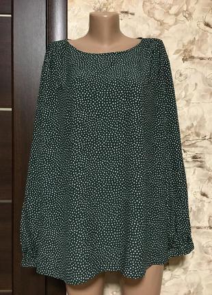 Натуральная блуза из вискозы в горохи h&m hennes & mauritz